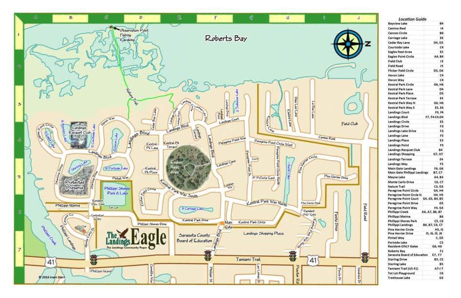 Map of The Landings of Sarasota